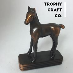 Trophy Craft Company, Cast Iron Horse, Collectible Figurine (On Sale Until 7/20!) by TheVintageRevolver on Etsy https://www.etsy.com/listing/385501670/trophy-craft-company-cast-iron-horse