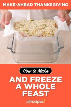 "Make-Ahead Thanksgiving: How to Make and Freeze a Whole Feast | ""Save yourself time and sanity by preparing a make-ahead Thanksgiving feast well ahead of the big day. I'll share tips for the best way to prepare favorite Thanksgiving recipes that you can simply freeze and reheat. Imagine being relaxed on Thanksgiving for a change!"" #thanksgiving #thankgivingrecipes #makeahead Frozen Cookie Dough, Frozen Cookies, Thanksgiving Feast, Thanksgiving Recipes, Roasting A Stuffed Turkey, Dinner Rolls Recipe, Recipe Creator, Sweet Potato Casserole"