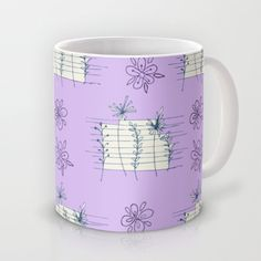 lines & florals Mug by aticnomar - $16.00