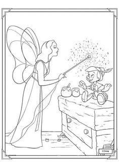Blue Fairy and Pinocchio