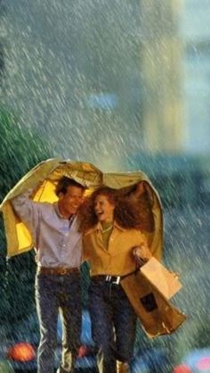 Laughing in the rain ❤