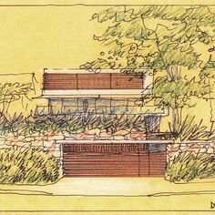 #fridaysketch #architecture #InstaArchitecture #luigirosselliarchitects No Curves House #Mosman #sydney