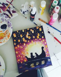 Christmas Pictures To Draw Art Projects Disney Canvas Paintings, Disney Canvas Art, Small Canvas Art, Mini Canvas Art, Acrylic Painting Canvas, Disney Art, 3 Canvas Painting Ideas, Painting Art, Cool Art Drawings