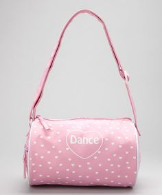 Horizon Dance Pink 'Dance' Heart Duffel on #zulily #dance #ballet