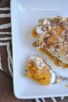 Pumpkin Better than Sex Cake - a fall twist to my favorite cake of all time.