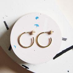 KIND Collection - 9ct Yellow Gold Hidden Orbit Hoop Earrings.
