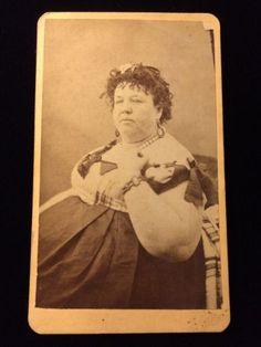 FREAK CIRCUS MAGGIE FAT LADY WOMAN VICTORIAN CARTE DE VISITE CDV PHOTO 1102 in Collectibles, Photographic Images, Vintage & Antique (Pre-1940), CDVs | eBay