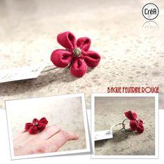 Bagues, Bague fleur en feutrine est une création orginale de CreAbricoton sur DaWanda