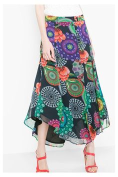 Desigual Gauze maxi-skirt . Discover the spring-summer 2016 collection!  Conservative Outfits 0be68e064e4d