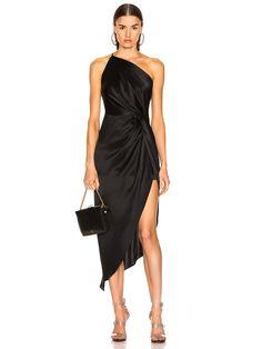 Michelle Mason for FWRD Twist Knot Midi Dress in Black   FWRD Black Satin Dress, Satin Dresses, Sexy Dresses, Evening Dresses, Casual Dresses, Formal Dresses, Summer Dresses, Wedding Dresses, Fall Dresses
