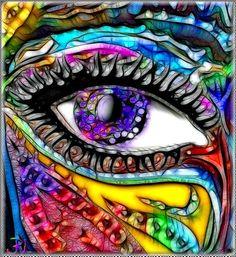 Rainbows: #Rainbow eye.