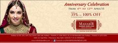 MAHABIR DANWAR JEWELLERS ANNOUNCES ANNIVERSARY CELEBRATION WITH 35-100% OFF ON MAKING CHARGES ON ALL ITEMS FROM 04-12 APRIL @ CITY CENTRE AND BURRABAZAR.