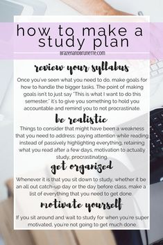 6 steps to creating a study plan for the new semester.