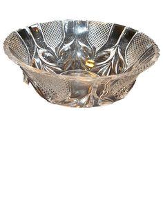 Cut Crystal Beveled Bowl