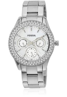 Fossil Es2860 Silver Silver Analog Watch