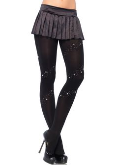 These stars and studs opaque tights feature full support and are the perfect sexy accessory to any outfit! Stars and Studs Opaque Tights, Sexy Star Detail Tights, Sexy Opaque Tights Lingerie Heels, Women Lingerie, Support Tights, Bas Sexy, Badass Outfit, Opaque Tights, Glamour, Cute Socks, Leg Avenue
