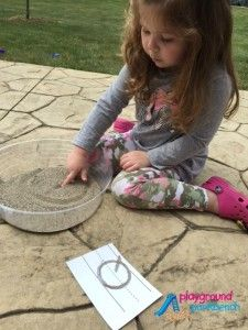 DIY Tactile Alphabet Cards - Tracing Letters in the Sand.  Make your own Montessori-inspired, textured letters to help your preschooler practice their letter formation