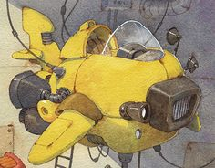 """Check out new work on my @Behance portfolio: """"Aircraft Yellow"""" http://be.net/gallery/40557515/Aircraft-Yellow"""