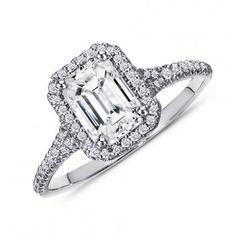 1.25 Carat Emerald Cut Diamond Engagement Ring