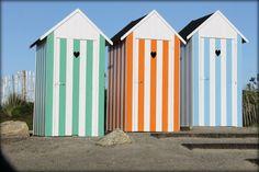 Cabines de plage...Saint Pol de Léon...