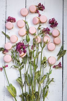 Rose Macarons ~ what a lovely way to present the macarons; love eating them but have never made them ... feel another Betty's course coming on!