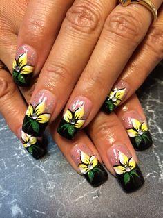 $25 Flower Nails, Nail Flowers, Nail Designs, Nail Art, Blog, Beauty, Makeup, Nail Art Designs, Nail Design