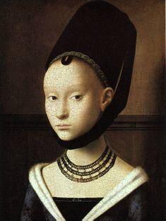Retrato de una joven, Petrus Christus, Renacimiento flamenco, Breda 1410/1420 - Brujas 1475/1476