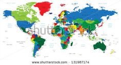 World map-countries - stock vector