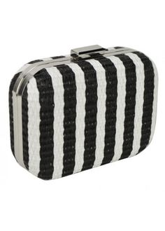 Aces Weave Striped Clutch Black