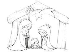 ✿ Dibujos para colorear de Pesebres listos para imprimir y usar en el aula.                ...ESCENAS NACIMIENTO 1                ...ES...