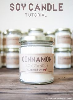 Ready to strike a match and make your own DIY candles? AMAZING DIY candles you DO NOT want to miss! Easy homemade candles that are beautiful and fun to make. Candle making is simple and budget friendly. Buy Candles, Soy Wax Candles, Scented Candles, Fall Candles, Making Candles, Diy Candles For Christmas, Diy Candles At Home, Cinnamon Candles, Gift Ideas