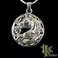 unicorn lisa parker | eBay Sterling Silver Chains, Sterling Silver Earrings, Celtic, Lisa Parker, Unicorn Necklace, Wire Jewelry, Jewellery, Cluster Necklace, Fantasy Jewelry