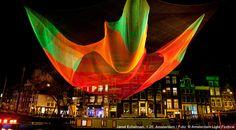 Janet Echelman: 1.26 Sculpture Project at the Amsterdam Light Festival, December 7, 2012 - January 20, 2013