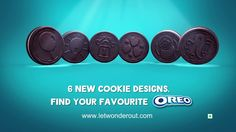 We treat both sides of our #cookie equally and hence the new designs. Check out the new #Oreo Super Sixes right awa