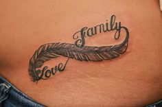 Perfect Meaningful Tattoo On Women's Sidebody