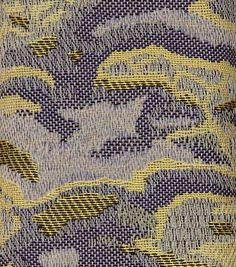 Jacquard weave by Sarah Giskin Weaving Textiles, Textile Fabrics, Textile Patterns, Textile Art, Stitch Patterns, Knitting Paterns, Knitting Stitches, Knitting Designs, Jacquard Fabric