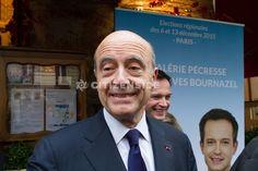 Elections régionales : Alain Juppé dans le XVIIIe arrondissement avec Valérie Pécresse - Politique - via Citizenside France. Copyright : Christophe BONNET - Agence73Bis