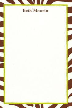 Personalized Zebra Notepad ($37.95)
