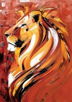I love this lion painting. It would make a beautiful tattoo too. I also would love to see this on my wall.