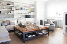 table basse moderne bois massif