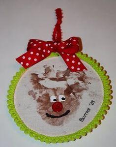Christmas ornament -handprint reindeer