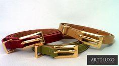 Lançamento novos cintos finos e básicos, diversas cores.