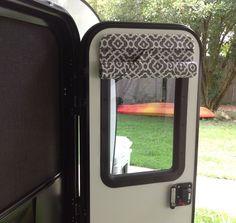16 x 24 camper door window shade blind RV teardrop trailer-Charcoal & White #TalonaRustics