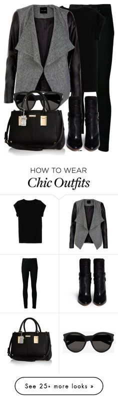 """Sem título #1417"" by beatrizvilar on Polyvore featuring Paige Denim, Isabel Marant, Yves Saint Laurent and River Island"