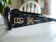 Yorkie Style!!!  Handpainted yorkie sunglasses!! by Misspaintsalot...on ebay