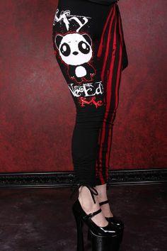 Killer Panda Therapist Leggings :: VampireFreaks Store :: Gothic Clothing, Cyber-goth, punk, metal, alternative, rave, freak fashions