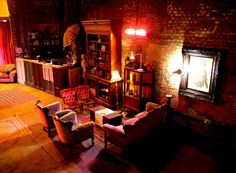 A bedroom in underground vaults. Nice. http://hirespace.com/Spaces/London/10362/Gallery-223/Whole-Venue/Arts