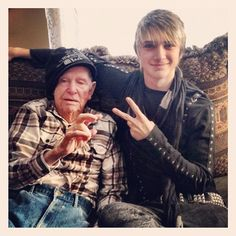 """My great grandfather wearin my hat..."""