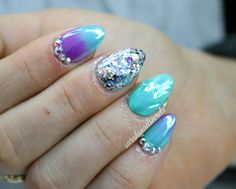 mermaid nails shell nail
