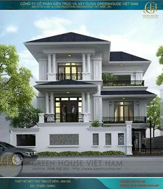 Gmail - Ring, Rings and 12 other boards like yours Classic House Design, House Front Design, Modern House Design, Dream House Exterior, Dream House Plans, Modern House Plans, Villa Design, Style At Home, Bungalow Haus Design